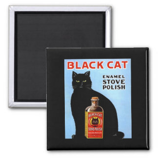 KITCHEN MAGNET ~ VINTAGE BLACK CAT! STOVE POLISH