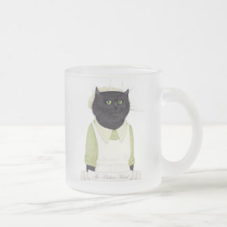 Kitchen Maid Cat Frosted Mug