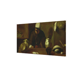 Kitchen Maid with the Supper at Emmaus, c.1618 Canvas Print