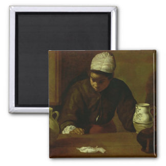 Kitchen Maid with the Supper at Emmaus, c.1618 Magnet