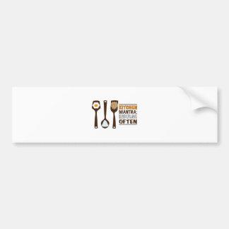Kitchen Mantra Indulge Often Bumper Sticker