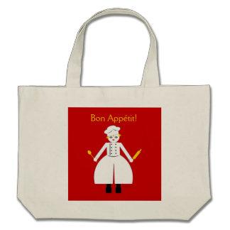 """Kitchen Martzkin """" Bon Appétit!"""" Tote Canvas Bags"""