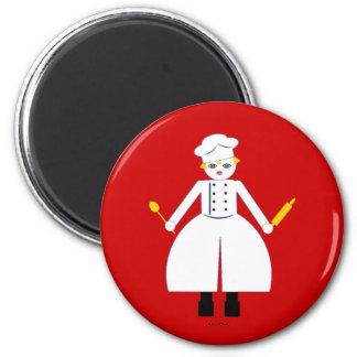 Kitchen Martzkin Red Chefette's Magnet
