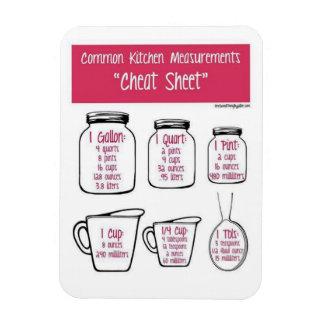 Kitchen measurements rectangular photo magnet