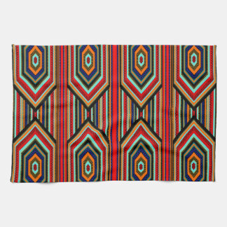 Kitchen Mexican Red Teal Blue Orange Black Inca Towels
