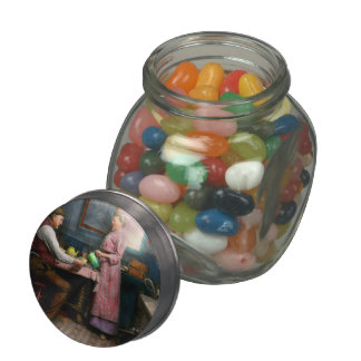 Kitchen - Morning Coffee 1915 Glass Candy Jars