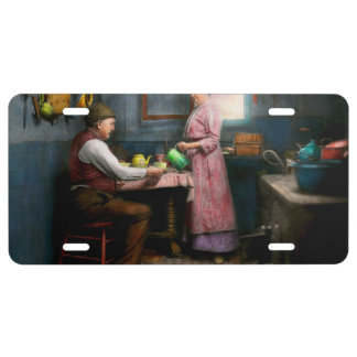Kitchen - Morning Coffee 1915 License Plate