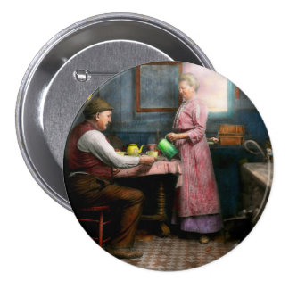 Kitchen - Morning Coffee 1915 Pinback Button