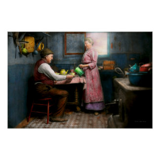 Kitchen - Morning Coffee 1915 Poster