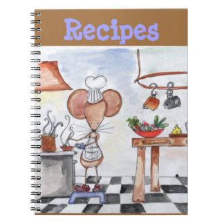 Kitchen Mouse Recipe Notebook