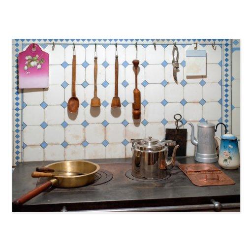 Kitchen of art nouveau post cards