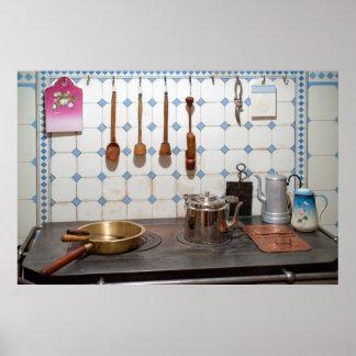Kitchen of art nouveau poster
