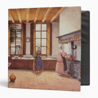 Kitchen of the Zwijnshoofd Hotel at Arnhem, 1838 Binder