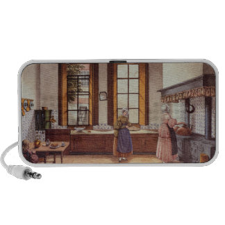 Kitchen of the Zwijnshoofd Hotel at Arnhem, 1838 Notebook Speakers