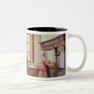Kitchen of the Zwijnshoofd Hotel at Arnhem, 1838 Two-Tone Coffee Mug