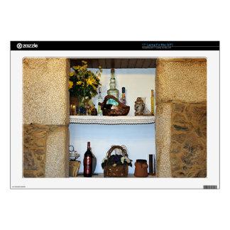 "Kitchen ornaments bottles & flower, hotel in Spain Skin For 17"" Laptop"