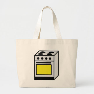 kitchen oven stove icon tote bag