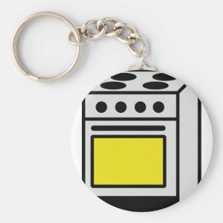 kitchen oven stove icon keychain
