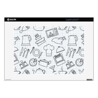 Kitchen Pattern 4 Decals For Laptops