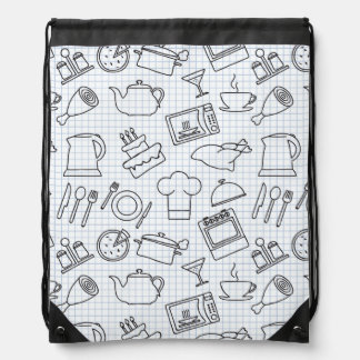 Kitchen Pattern 4 Drawstring Backpack
