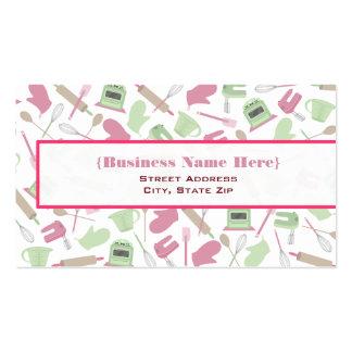 Kitchen Pattern Business Card