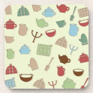 Kitchen pattern coaster