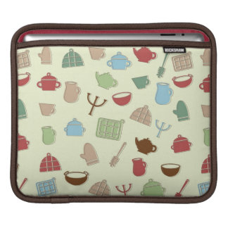Kitchen pattern iPad sleeve