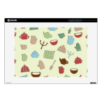 "Kitchen pattern 15"" laptop skin"