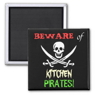 Kitchen Pirates 2 Inch Square Magnet
