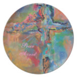 Kitchen Plate-Peace Accord by Deb Magelssen
