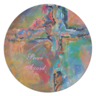 Kitchen Plate-Peace Accord by Deb Magelssen Dinner Plate
