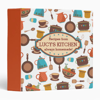 Kitchen pots pans utensils cooking catering chef 3 ring binder