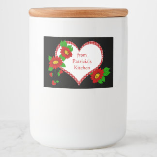 Kitchen Preserves Red Gingham, Strawberry, Flowers Food Label