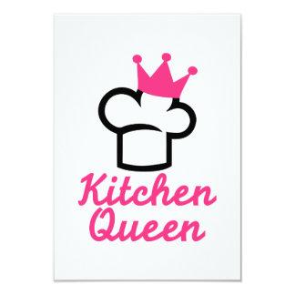 Kitchen queen 3.5x5 paper invitation card