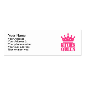 Kitchen queen mini business card