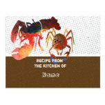 Kitchen Recipe Cards Postcard