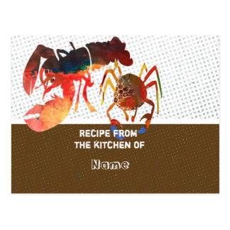 Kitchen Recipe Cards Post Card