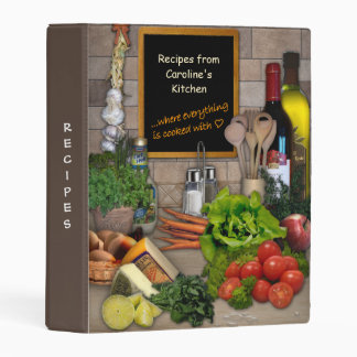 Kitchen Recipes Collection with Your Name Mini Binder