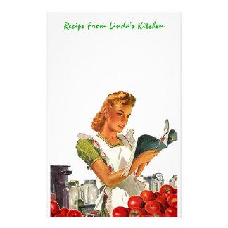 Kitchen Recipes Personal Stationery EZ2Customize