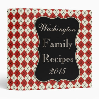 Kitchen Red Family Recipe Organizer Binder Gift