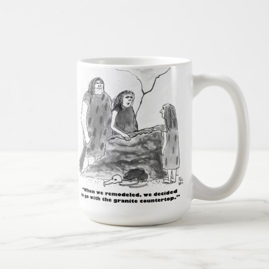 Kitchen remodel for cavemen coffee mug