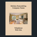"""Kitchen Remodeler2 Business Flyer<br><div class=""""desc"""">This fabulous business flyer is designed to leave a lasting impression guaranteeing people will always remember you. It is important if you are in business for yourself to invest in flyers that give the details of what your service or business offers and why you are superior to your competition. Remember...</div>"""