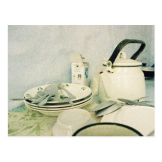 Kitchen Scene, Kitchen Art, Art Photography Postcard
