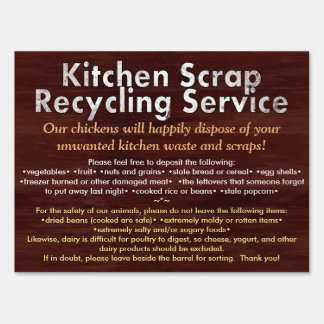 Kitchen Scrap Recycling Sign