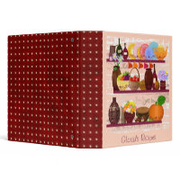 kitchen shelves personalized recipe binder binder