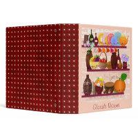 kitchen shelves personalized recipe binder binder