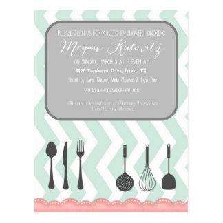 Kitchen Shower Invitation Postcard