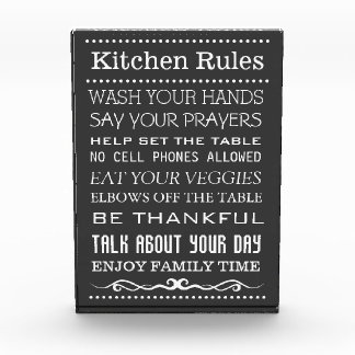Kitchen Sign | Family Rules Sign | Kitchen Rules Photo Block