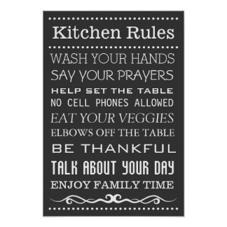Kitchen Sign | Family Rules Sign | Kitchen Rules Poster