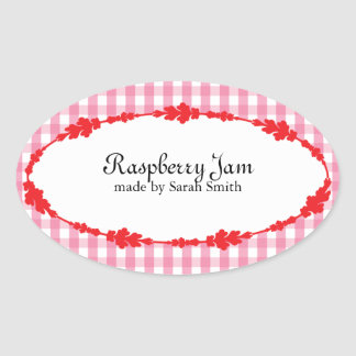 Kitchen Spice, Food, and Drink Labels Oval Sticker